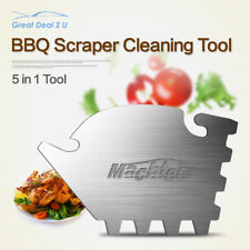 5 in 1 multi BBQ Scraper Grill Cleaning Tool Stainless Steel Grill Cleaner Pan