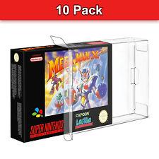 Clear Protective Box NES SNES N64 10x PET Case Display Nintendo