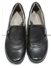 Naturalizer Black Slip On Wedge womens size 7.5 N shoe with side zippers