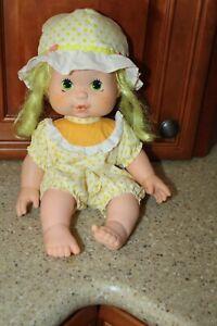 """Vintage Lemon Meringue 1982 Baby Blow Kiss Doll 14"""" Kenner"""