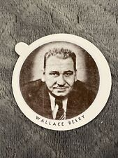 Vintage Dixie Cup Ice Cream Lid With Movie Stars ~ Wallace Beery