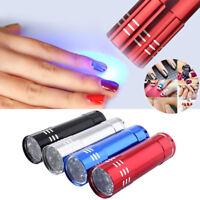Nail Dryer Mini 9 LED Flashlight UV Lamp Portable Nail Gel Manicure Tool Fast