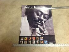 RARE!! CD. lp. 24x18appx. PROMO Poster JOHNNIE TAYLOR blues music