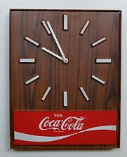 Coca Cola Wanduhr Reklameuhr Holzoptik