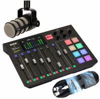 Rode Rodecaster Podcast Station + Podmic Podcast-Mikrofon + 6m XLR Kabel