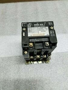 Square D Nema Size 1 Class 8786 SCO 7 9 A Contactor