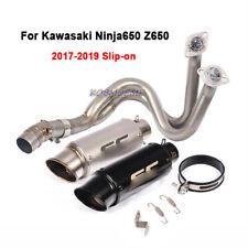 For Kawasaki Ninja650 Z650 2017-2019 Full Exhaust Connecting Pipe Muffler Pipe