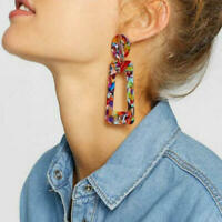 Boho Leopard Earrings Acrylic Dangle Drop Resin Earring Fashion Women Jewelry