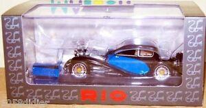 RIO 4258 Voiture Miniature BUGATTI T50 T 50 Bleu et Noir 1/43 neuf Pas cher