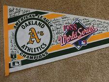 1988 Oakland A's Baseball AL Champs Original Full Size 30 Inch Pennant