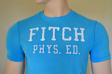 NEW Abercrombie & Fitch Fish Hawk Cliff Turquoise Tee T-Shirt XL