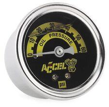 Accel Oil Pressure Gauge For Harley-Davidson - Liquid Filled - 0-60 PSI 7121A
