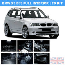 BMW X3 E83 2003-2010 WHITE INTERIOR UPGRADE ERROR FREE LED LIGHT KIT SET