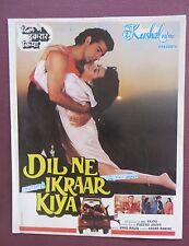 Indrani Banerjee INDIAN Movie  Dil Ne Ikaar Kiya (1992)  Press Book SONG BOOKLET