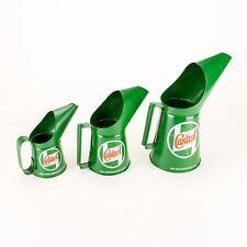 Castrol Classic Jug Set of 3 Oil Pourer Pouring Cans 1/2 1 2 Pint Retro -