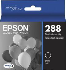 New Sealed Epson 288 Ink Cartridge Black Standard DURABrite Ultra T288120-S Box