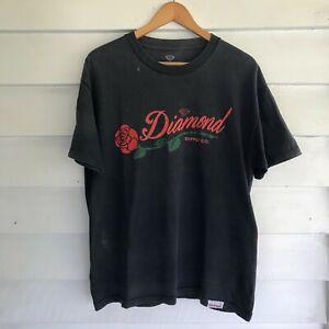Diamond Supply Company Logo Spellout Men's Shirt Size L