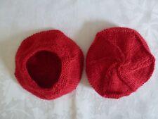 vetement poupée ancienne & moderne tour tete 22 a 28 cm chapeau rouge grenadine