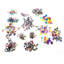 Wholesale Lot 232pc Eyebrow Nipple Industrial Barbell Tongue Belly Ring Nose Lip