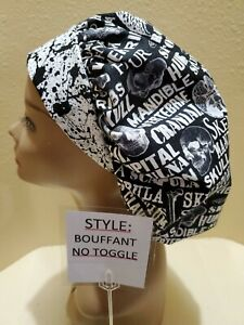 Bones Ortho Neuro Halloween Women's Bouffant Surgical Scrub Hat/Cap Handmade