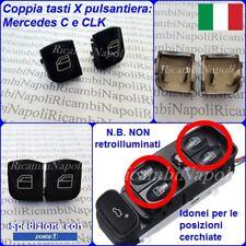 2 X TASTO PULSANTE ALZA VETRO PULSANTIERA x MERCEDES C W203 00/07 CLK C209 02/09