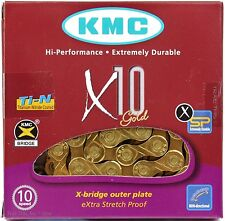 KMC X10 GOLD Ti-N 10-Speed Bike Chain XSP 116-Links fits Road MTB / SRAM Shimano
