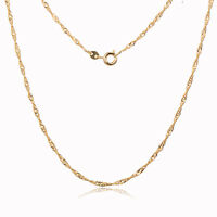 Womens Charm Yellow Fine Gold Filled Long Necklace Fit Pendant Statement