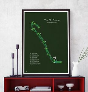 The Old Course at St Andrews Golf Print  - Golfing Poster A1, A2, A3