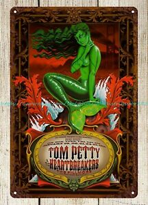 Tom Petty and The Heartbreakers Band Concert Poster metal tin sign decorative