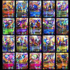 100Pcs Pokemon Tcg Flash Cards Lot Rare 80 Ex + 20 Mega Card No Repeat Kids Gift