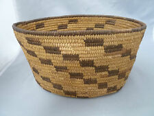"""Native American Pima Oval Basket Bowl Very Nice Design. Approx 5"""" T x 10.5""""Long"""