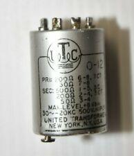 New listing one vintage Utc 0-12 Transformer - Usa - United Transformer o-12