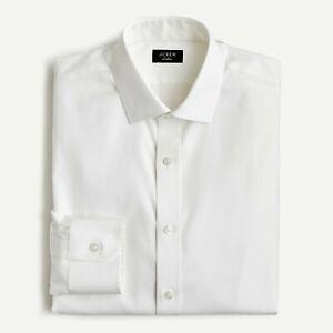 J. Crew Ludlow Slim-Fit Stretch Easy-Care Cotton Poplin Dress Shirt White