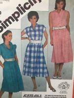 Simplicity Sewing Pattern 5978 Misses Ladies Pullover Dress Size 16 - 18 -20 UC