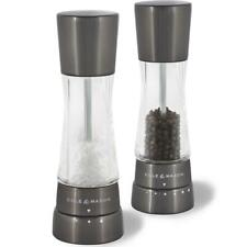 Cole & Mason Gourmet Precision Derwent Salt/Pepper Mill Gift Set, Gun Metal 19cm