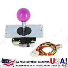 Sanwa Original Japan Arcade Joystick JLF-TP-8YT with Purple Ball Top stick mod