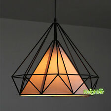 New Diamond Shape Metal Chandelier Birdcage Pendant Lamp Ceiling Light Lighting