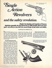 1975 Single-Action Revolvers & the safety revolution 10-page Article