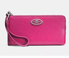 NWT Coach  Leather L- Zip Wallet/Wristlet  $125 iPhone 6 Fits- Pink W/ Box