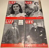 Lot LIFE MAGAZINE 1945 1947 > 4 Diff Issues FDR, CHURCHILL, PRINCESS ELIZABETH +