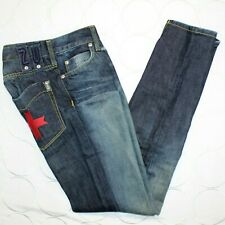 Zu Elements Womens Super Slim Fit Jeans Size 27 Distressed Denim Made in Italy
