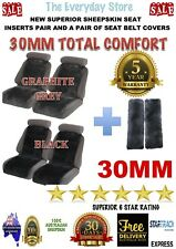 SHEEPSKIN (LAMBSWOOL) INSERTS CAR SEAT COVERS PR 30MM ABAG SAFE+SEAT BELT COVERS