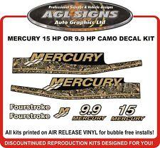 1999 2000 2001 2002 2003 2004 2005 2006  MERCURY 15 hp Camo Decals  9.9 hp