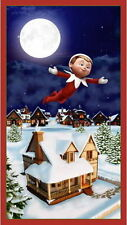 "23"" PANEL ELF ON A SHELF  ELFS STORY CHRISTMAS HOLIDAY FABRIC QUILTING TREASURES"
