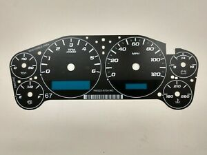 GM Chevy Truck SUV Cluster Black Gauge Face Overlay 2007-2013 New Aftermarket