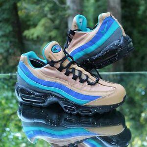 Nike Air Max 95 Men's Size 8.5 Premium Mega Blue Tan 538416-204
