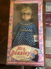 "1967 Mattel Mrs Beasley Family Affair 22"" Has Apron Collar & Glasses And Talks"