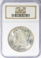 1885 Morgan Silver Dollar - NGC MS-65 - Mint State 65