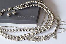 Silpada Unreleased Multi Strand Silver Plated Bead Necklace BONUS P3037 Earrings