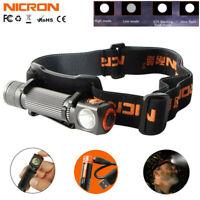 Nicron LED Rechargeable Headlamp Magnetic Inspection Flashlight HeadLight 14500